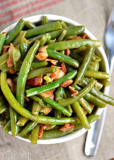 These are my Nana's Famous Green Beans! Made with just a handful of ingredients and Whole30 compliant! A delicious addition to any meal!