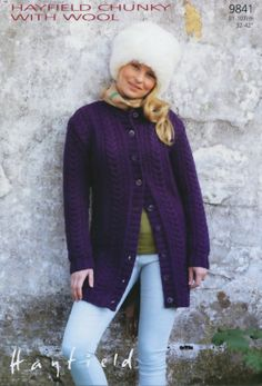 Woman's Long Line Cardigan | Knitting Fever