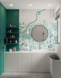 Culoare și multă personalitate într-un proiect de amenajare al unei case de 83 m²