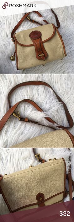 DOONEY AND BOURKE VINTAGE CROSSBODY BAG PURSE 👛 100% authentic, super amazing quality leather :) ... this bag smells like smoke to me so that is the reason for the price! It's great but it smells that way to me .. if you don't mind it here it is ! My home is smoke free but this bag wasn't mine so there it is :0 any questions please ask me :) Dooney & Bourke Bags