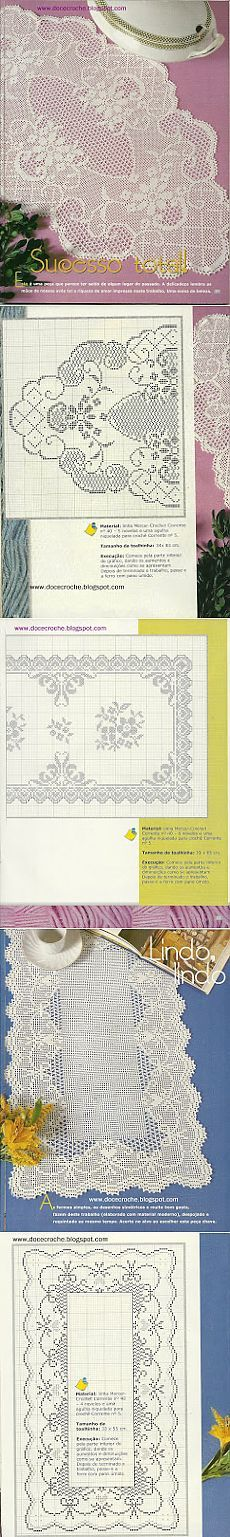 This Pin was discovered by sem Filet Crochet Charts, Crochet Doily Patterns, Thread Crochet, Crochet Motif, Irish Crochet, Crochet Designs, Crochet Doilies, Crochet Stitches, Free Crochet