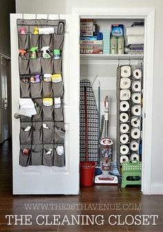 Ideas: 20 Easy Storage For Your Home Organization Ideas: 20 Easy Storage For Your Home; Cleaning closet inset next to dog kennelOrganization Ideas: 20 Easy Storage For Your Home; Cleaning closet inset next to dog kennel Organisation Hacks, Storage Hacks, Storage Organization, Bathroom Organization, House Organization Ideas, Storage Solutions, Bathroom Ideas, Organizing Ideas, Organisation Ideas For The Home