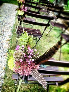 Ceremony Chairs Decoration, Tuscany, #weddingdecor #flowersdecor #weddingintuscany La Rosa Canina FIRENZE www.larosacaninafioristi.it