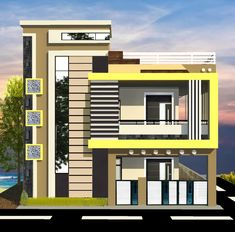 House Balcony Design, House Floor Design, House Outer Design, House Main Gates Design, 3 Storey House Design, House Outside Design, Modern Exterior House Designs, Village House Design, Bungalow House Design