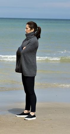 Crown Princess Mary of Denmark as patron of the Danish Swimming Federation, participated in the inauguration of the new Life-Saving Post at the Tversted Strand in North Jylland 2015-06-22
