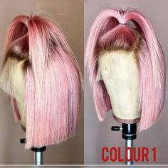 Remy Hair Wigs, Human Hair Wigs, Curly Wigs, Lace Front Wigs, Lace Wigs, Curly Hair Styles, Natural Hair Styles, Pink Wig, Hair Laid