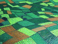 Blick über Felder und Wälder / Öl auf Leinwand, 70x50 cm. 2015