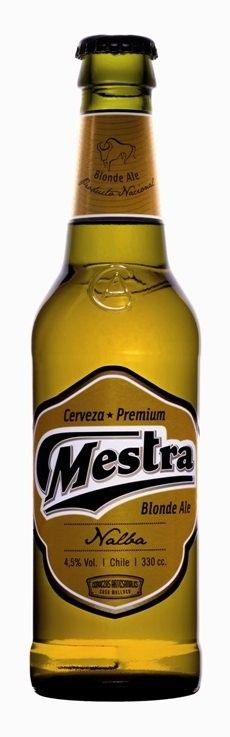 Cerveja Mestra Blonde Ale, estilo Blond Ale, produzida por Cerveza Mestra, Chile. 4.5% ABV de álcool.