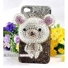 teddyyy bear#Crystal Iphone cases