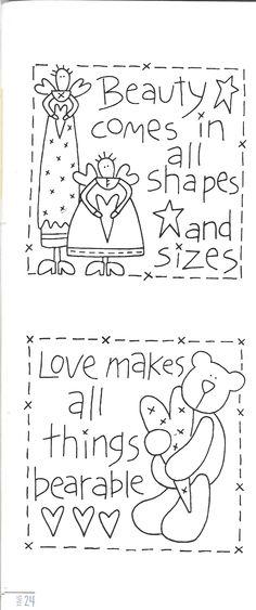 .Lindos desenhos de Natalie Bird.Do livro Sweet Sentiments.  http://www.thebirdhouse.com.au/books/ss/ss.htm