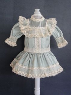 BLEUETTE-Doll-dress-For-11-12-antique-vintage-or-Artist-doll-Made-in-FRANCE