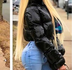 Cropped Down Parka Puffle Jacket Bubble Coat Winter Women New Fashion Short Clothing Black Red Hot Pink Yellow New Fashion, Fashion Outfits, Urban Fashion, Womens Fashion, Nylons, Down Parka, Winter Coats Women, Winter Jackets, Puffer Jackets