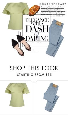 """""""Jean Darling"""" by vanessavardanyan ❤ liked on Polyvore featuring D&G"""