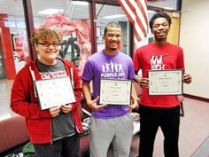 The Mount Clemens Optimist Club announced the winners of its annual oratorical contest from Mount Clemens schools. They are left to right: junior high school participant and second place winner Nakia Shaw; senior and first place winner Matthew King; and senior and third place winner Devin Felts.