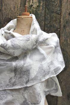 nuno felted scarf by Ishild on Etsy