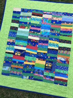 This quilt was ALMOST complete a LONG time ago!! I can finally say DONE. :) I love baby quilts. I love string quilts. ...