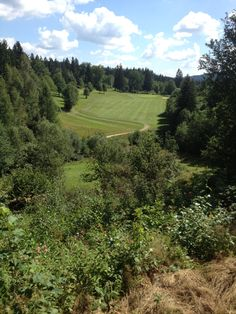 It's not easy to hit the fairway on this hole in Oberzwieselau.