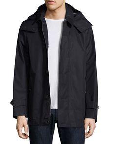 BURBERRY Darnsbury Hooded Field Jacket, Navy. #burberry #cloth #