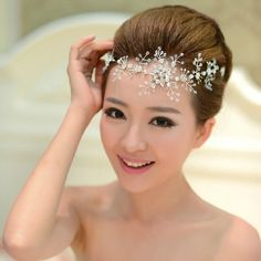 Snowflake Bridal Head Piece Head Chain Bridal jewelery Wedding Accessories on Etsy, $18.00