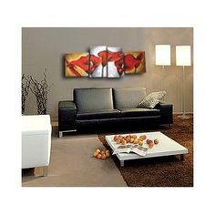 Modern Oil Painting on Canvas Stretched - Red Calla