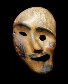 Alaska, late 1800s | Spirit mask. Used by an Alaskan, Inuit Shaman, this mask would have been worn during ritual dances to bring good health and hunting.