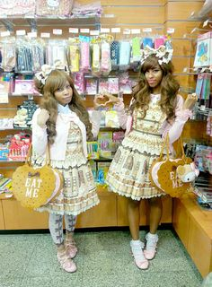 sanriopalace:  Sweet Cream House twins!    IG: @sanriopalace @sweetlullabai  I miss you guys ❤