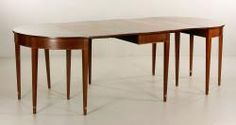 Mahogany Drop Leaf and Matching Demilune Tables The Estate of Mary L. Alchian of Palm Springs, CA | Kaminski Auctions 1/18/15
