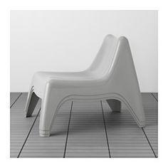 IKEA - IKEA PS VÅGÖ, Sessel/außen, grau, -, , Das Kunststoffmaterial ist UV-stabilisiert und vor Ausbleichen geschützt - das beugt Rissbildung und Austrocknen vor, erhöht die Haltbarkeit und der Sessel wirkt lange wie neu.Stapelbar; spart Platz, wenn nicht in Gebrauch.Durch die Öffnung im Sitz kann Regenwasser ablaufen.Leicht zu reinigen - einfach feucht abwischen.