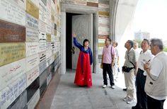 일본 조선의 자주적평화통일을 지지하는 나가노현민회의대표단 여러곳 참관
