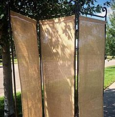 Burlap Divider Backdrop. Contact ABC Rentals Special Events to rent items for your wedding or special event. #SiouxFallsWedding #DessertTable