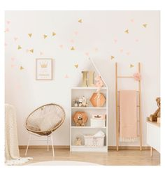 Baby Bedroom, Baby Room Decor, Kids Bedroom, Bedroom Decor, Cool Baby, Bedroom Stickers, Little Girl Rooms, My Room, Room Inspiration