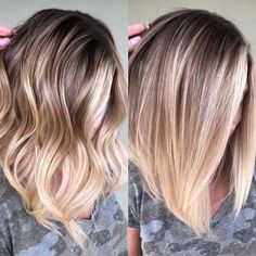 Ombre Do you prefer wavy 〰️ or straight ➖? Debate below 👇 Alpingo Balayage , Do you prefer wavy 〰️ or straight ➖? Debate below 👇 Do you prefer wavy 〰️ or straight ➖? Debate below 👇 . Balayage Straight Hair, Short Straight Hair, Hair Color Balayage, Blonde Balayage Mid Length, Baylage Short Hair, Mid Length Blonde Hair, Straight Hair Highlights, Fall Blonde Hair Color, Long Bob Balayage