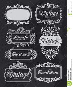 chalkboard frame:delightful vintage chalkboard banner frames retro vector design set removable texture