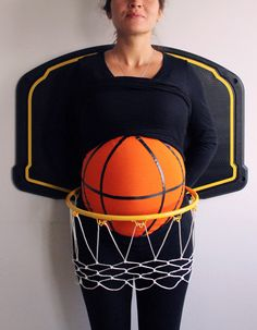 Kostüme für Schwangere basketball-spieler-ball-korb