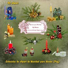 Recursos Photoshop Llanpac: Colección de clipart de Navidad para diseño (Png)