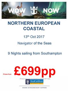 @CruiseDeals CruiseMuse Cruise Holidays Travel Channel yet more amazing deals here with RCI 9ngts on Navigator from £699pp call for FREE now