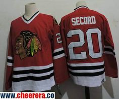 ceac063c Men's Chicago Blackhawks #20 Al Secord 1983 Red CCM Throwback Stitched  Vintage Hockey Jersey Bob
