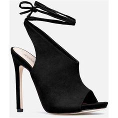 Justfab Heeled Sandals Edwina Heeled Sandal (539.685 IDR) ❤ liked on Polyvore featuring shoes, sandals, black, sexy black shoes, black platform sandals, platform heel sandals, high heels sandals and platform sandals