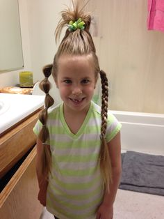Crazy hair day or wacky wednesday
