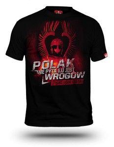 Koszulka patriotyczna Husaria - Polak nie pyta ilu jest wrogów męska