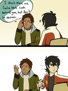 Lance's expression at the end XD
