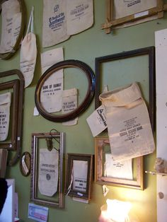 Bank Bags and vintage frames