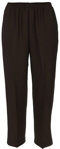 Classic solid pants from #Alfred Dunner feature an easy care twill weave, pull on design with full elastic waist, and front slash pockets. These pants are availa...