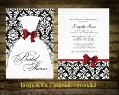 Damask bridal shower invitations with Wedding by NotedOccasions, $35.00