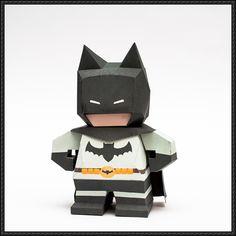 Chibi Batman Free Paper Toy Download - http://www.papercraftsquare.com/chibi-batman-free-paper-toy-download.html