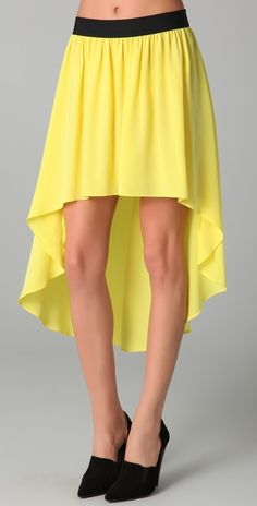 Mason By Michelle Mason Uneven Hem Skirt thestylecure.com