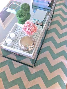 Teal chevron floor I really want this