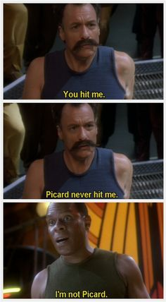 Q and Sisko DS9