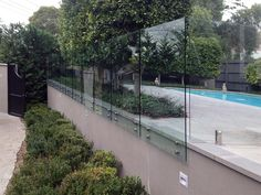 Cover your swimming pool area with best quality glass fence. Get in touch with 'OZ Glass Fencing' to know more about glass fence installation process. Glass Pool Fencing, Glass Fence, Pool Fence, Swimming Pools Backyard, Garden Pool, Pool Landscaping, Fence Around Pool, House With Balcony, Stock Tank Pool