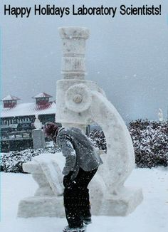 Snow Microscope -  This is what medical laboratory scientists do during their winter holidays